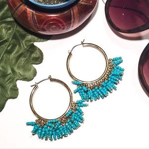 INC/ International Concepts/ Turquoise Seed Hoops